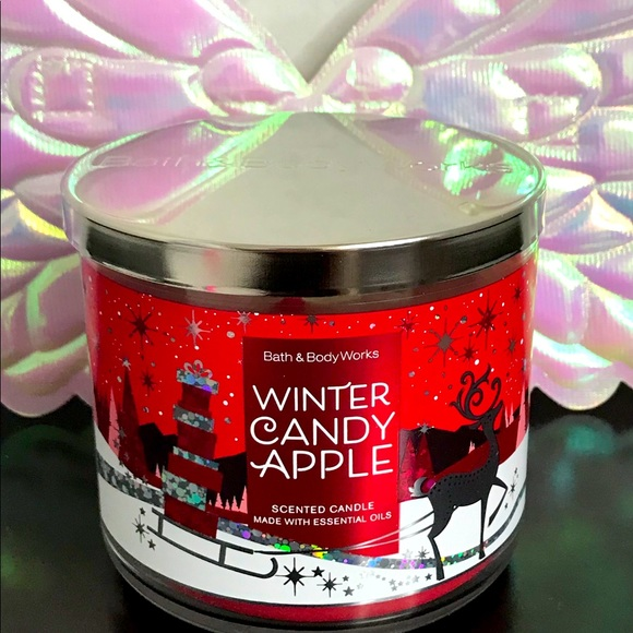 BBW 3 wick candle Winter Candy Apple
